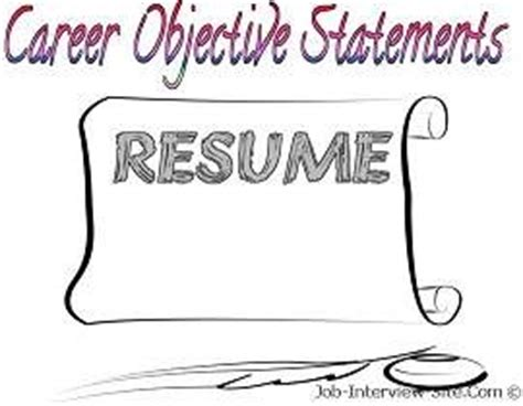 A good objective for my resume